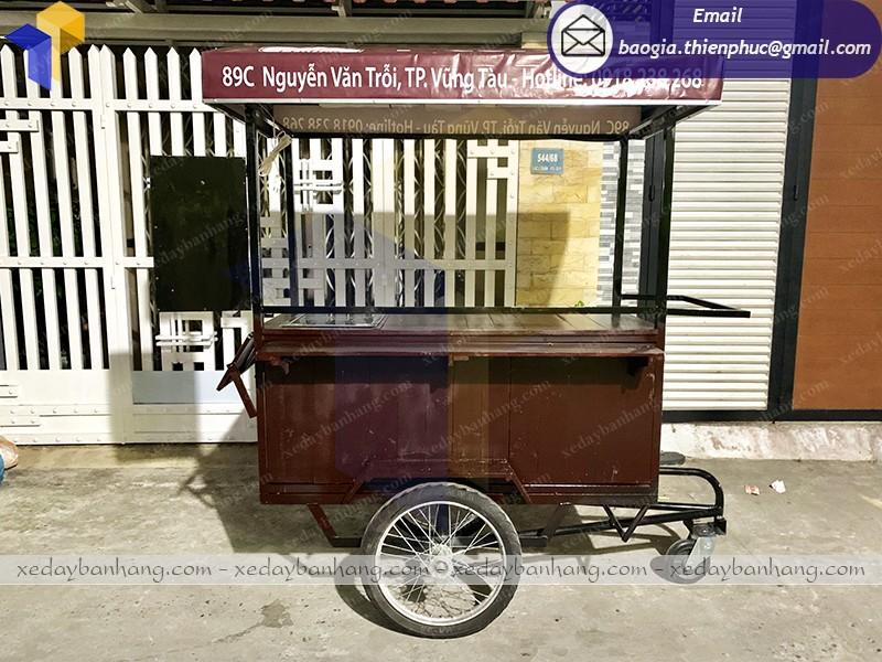 xe đạp bán cà phê lưu động