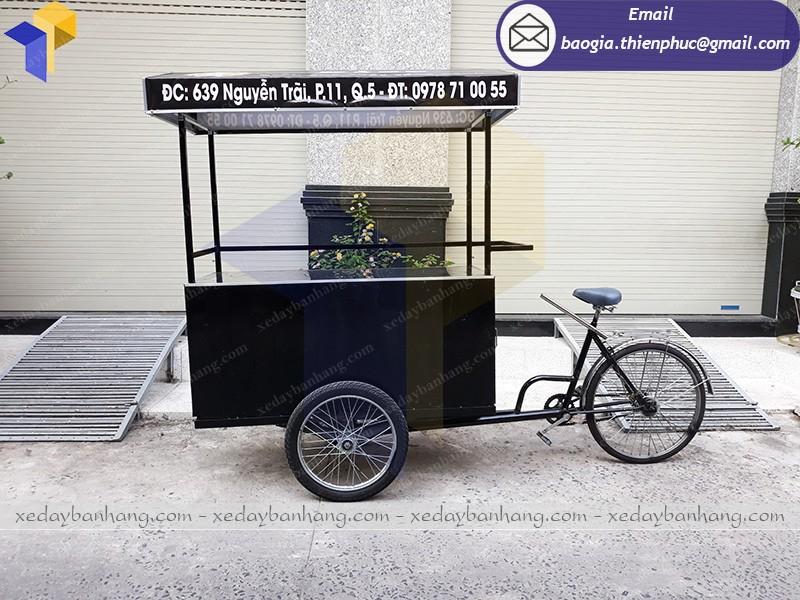 xe đạp bán cà phê lưu động giá rẻ