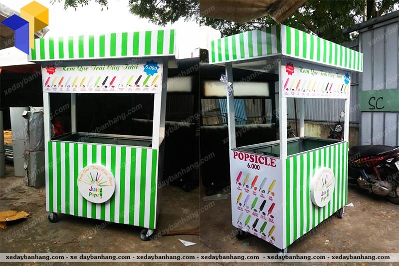 xe đẩy bán kem que