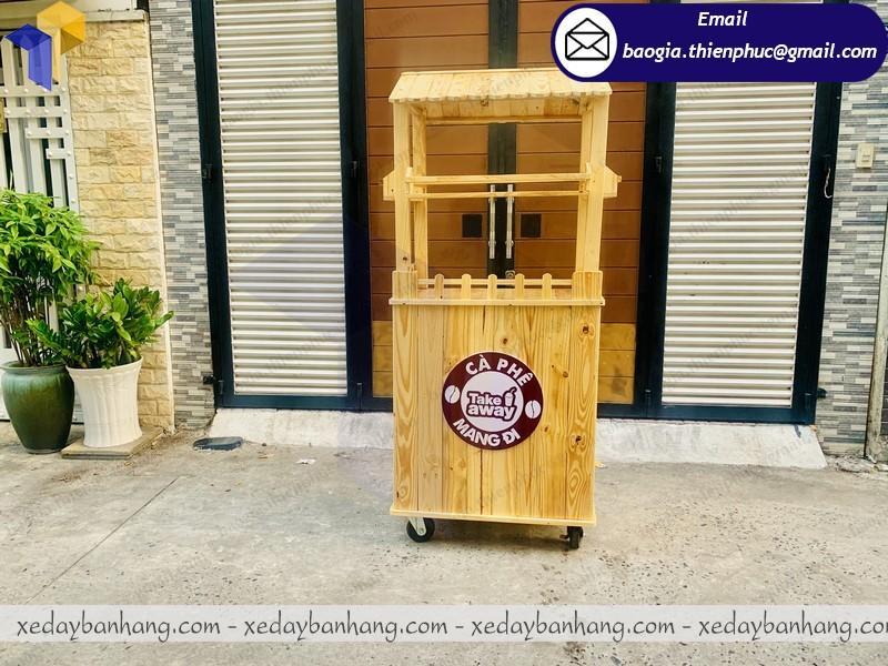 cung ứng tủ gỗ bán cà phê dạo giá rẻ