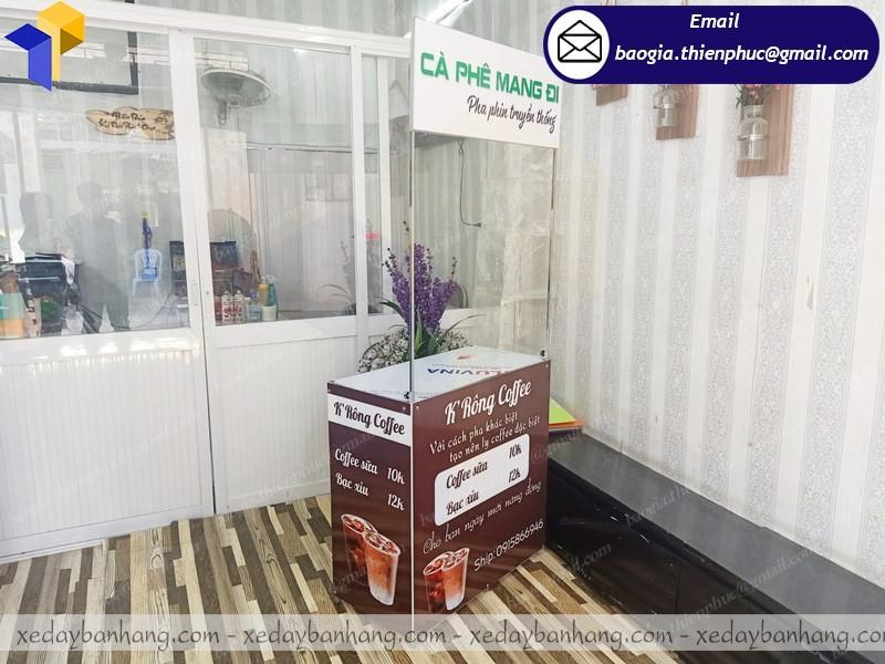 booth sắt mini bán café buôn mê thuột giá rẻ