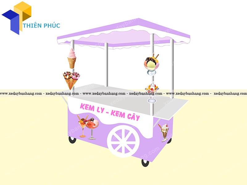 xe đẩy bán kem dạo giá rẻ