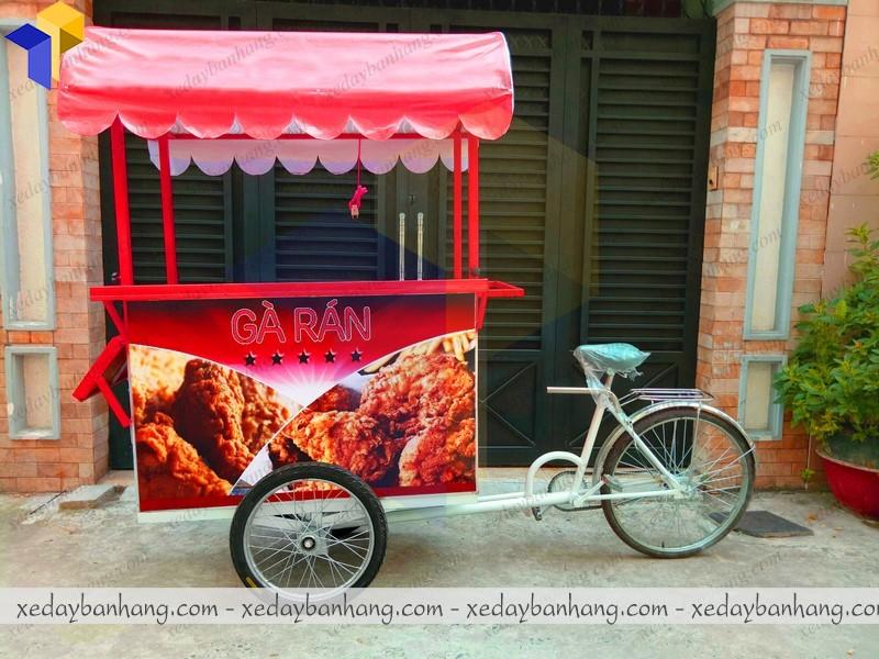 xe đạp bán gà rán lưu động