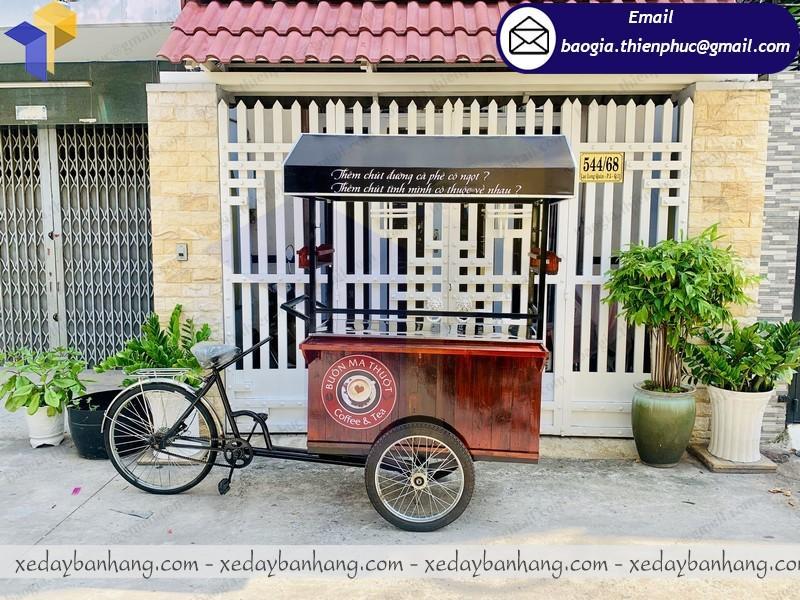 xe đạp bán cafe