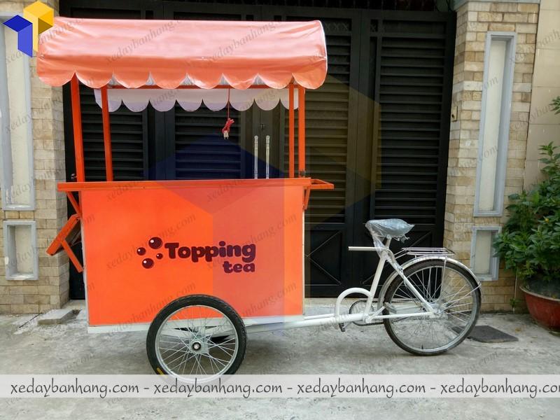 mẫu xe đạp bán trà sữa hiện đại