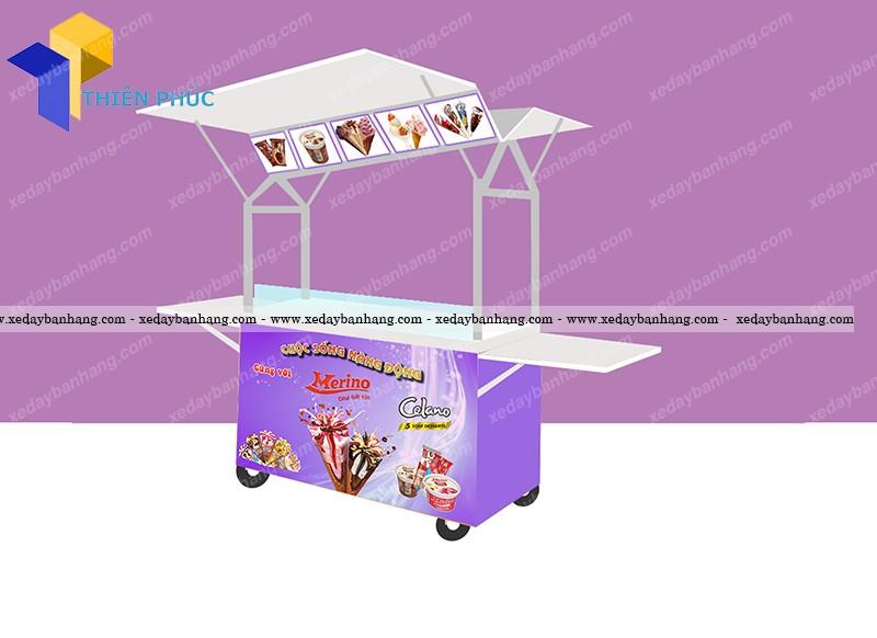 xe bán kem vỉa hè đẹp