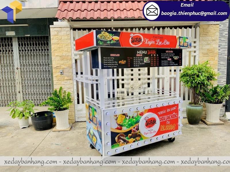 tủ sắt lớn bán thức ăn nhanh